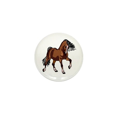 Spirited Horse Mini Button