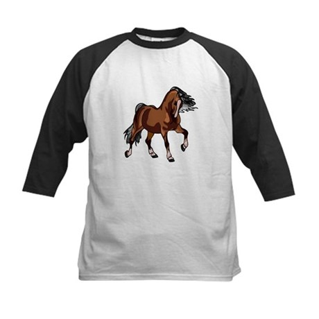 Spirited Horse Kids Baseball Jersey