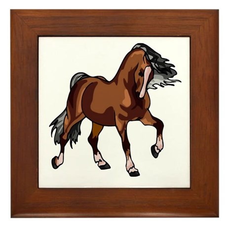 Spirited Horse Framed Tile