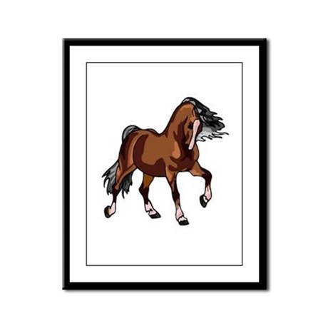Spirited Horse Framed Panel Print