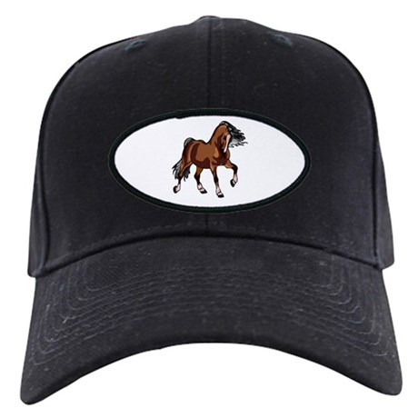 Spirited Horse Black Cap