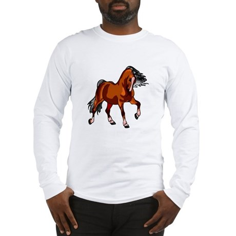 Spirited Horse Red Long Sleeve T-Shirt