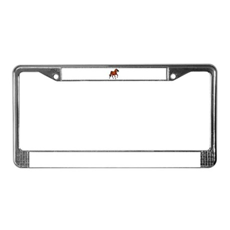 Spirited Horse Red License Plate Frame