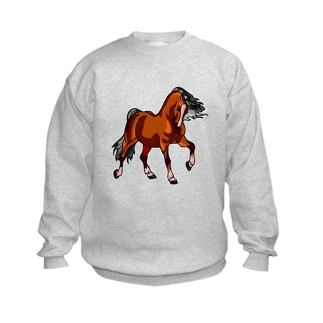 Spirited Horse Red Kids Sweatshirt