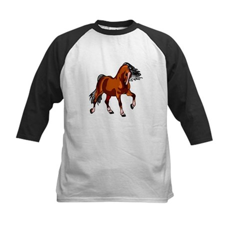 Spirited Horse Red Kids Baseball Jersey