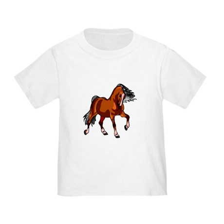 Spirited Horse Red Toddler T-Shirt