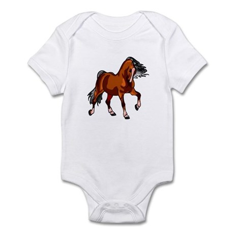 Spirited Horse Red Infant Bodysuit