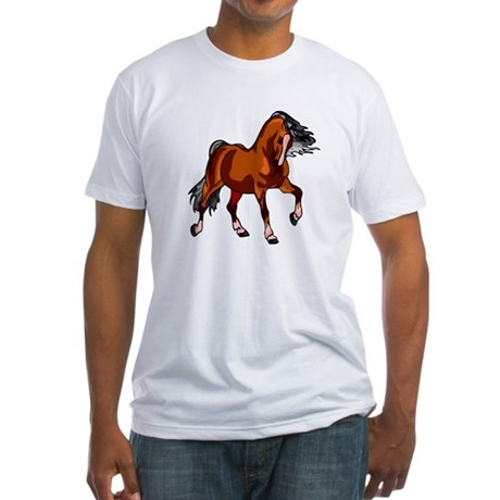 Spirited Horse Red Fitted T-Shirt