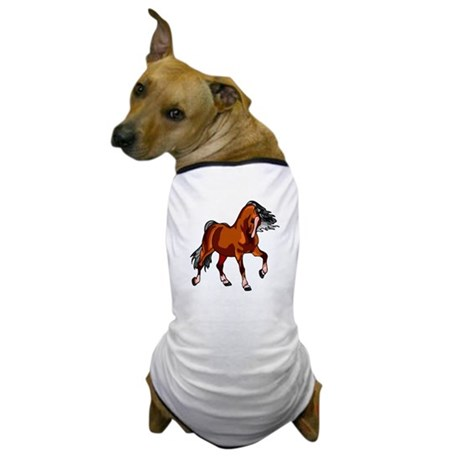 Spirited Horse Red Dog T-Shirt