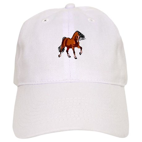 Spirited Horse Red Cap
