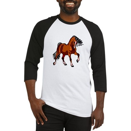 Spirited Horse Red Baseball Jersey