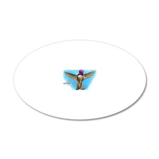 Costas Hummingbird 20x12 Oval Wall Decal
