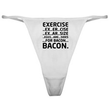 Bacon Logical Deduction Classic Thong