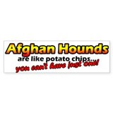 Potato Chips Afghan Hound Bumper Bumper Sticker
