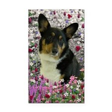 Sebastian the Welsh Corgi in  Rectangle Car Magnet