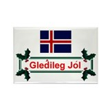 Iceland Gledileg Jol Rectangle Magnet