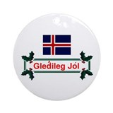Iceland Gledileg Jol Keepsake Ornament