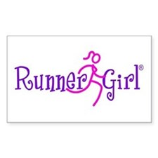 RunnerGirl Rectangle Sticker PPN