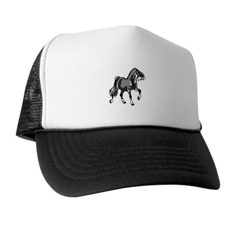 Spirited Horse Gray Trucker Hat