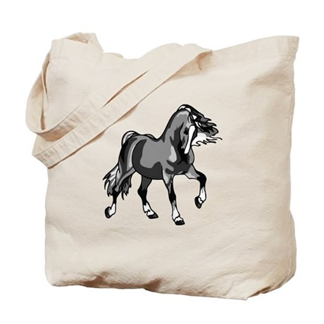 Spirited Horse Gray Tote Bag