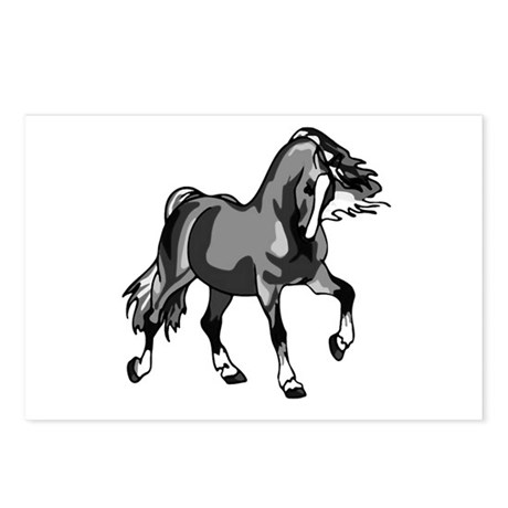 Spirited Horse Gray Postcards (Package of 8)