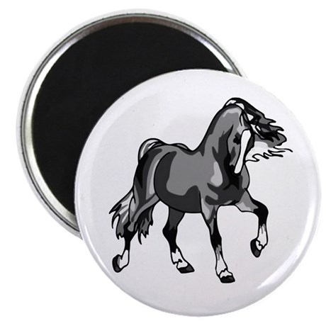 "Spirited Horse Gray 2.25"" Magnet (100 pack)"