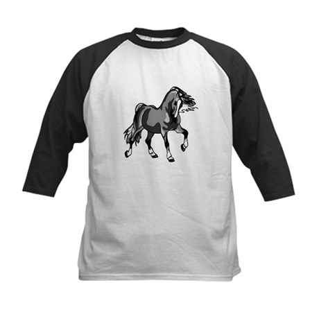 Spirited Horse Gray Kids Baseball Jersey