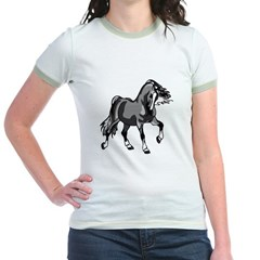 Spirited Horse Gray Jr. Ringer T-Shirt