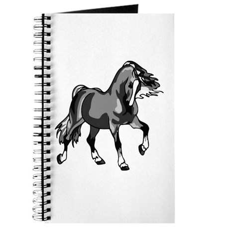 Spirited Horse Gray Journal