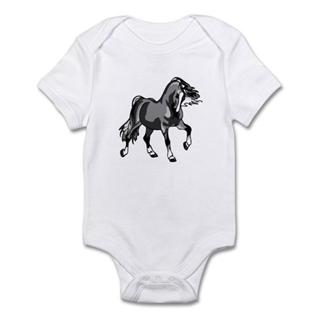 Spirited Horse Gray Infant Bodysuit