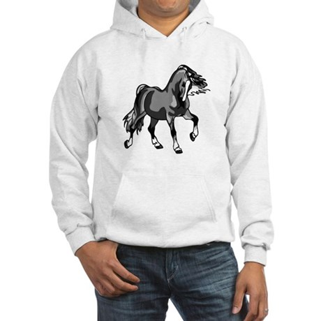 Spirited Horse Gray Hooded Sweatshirt