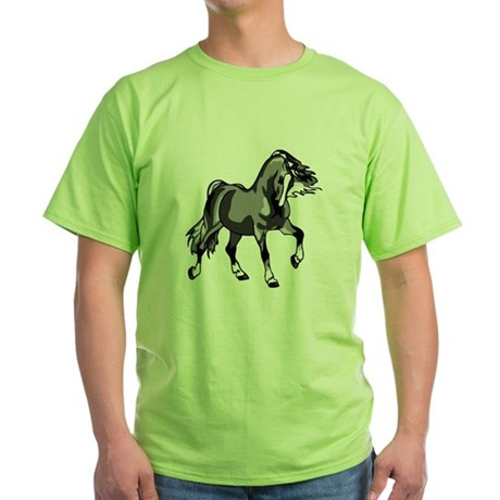 Spirited Horse Gray Green T-Shirt