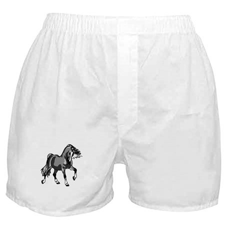 Spirited Horse Gray Boxer Shorts
