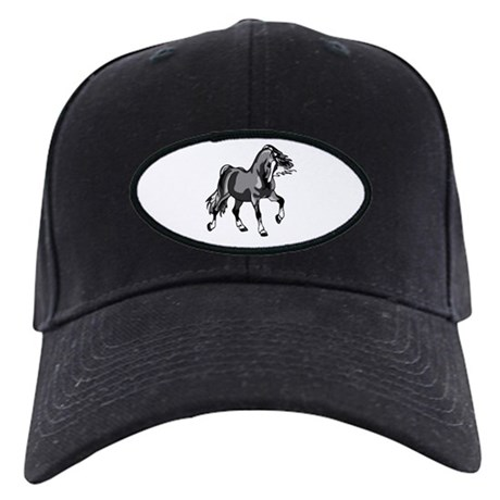 Spirited Horse Gray Black Cap