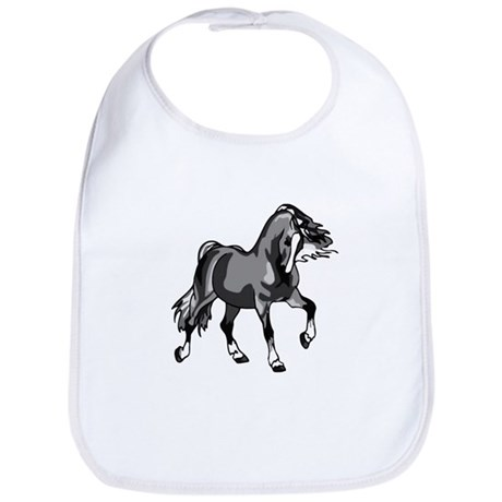 Spirited Horse Gray Bib