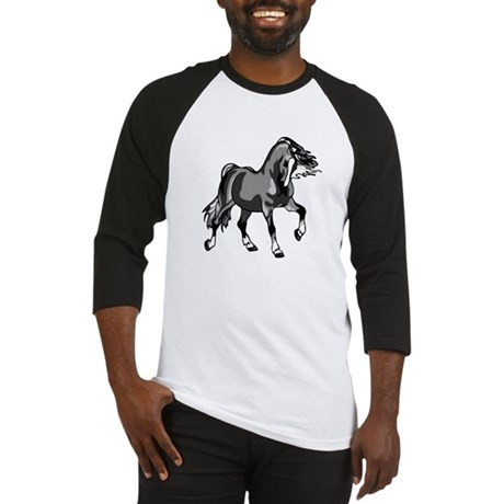 Spirited Horse Gray Baseball Jersey