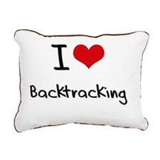 I Love Backtracking Rectangular Canvas Pillow