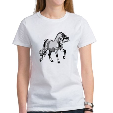 Spirited Horse White Women's T-Shirt