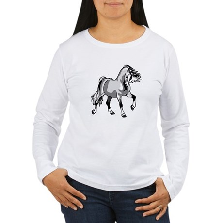 Spirited Horse White Women's Long Sleeve T-Shirt