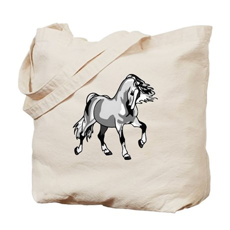 Spirited Horse White Tote Bag