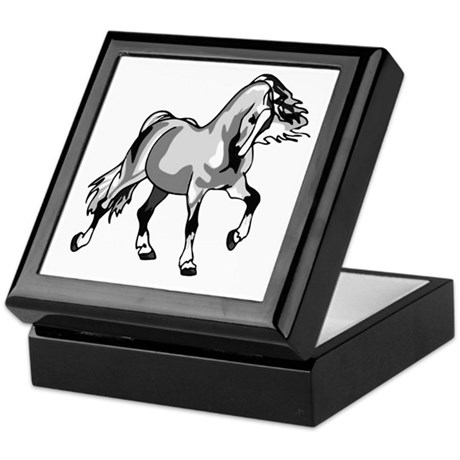 Spirited Horse White Keepsake Box