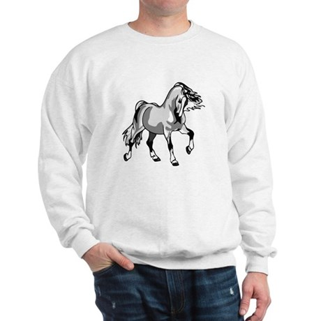 Spirited Horse White Sweatshirt