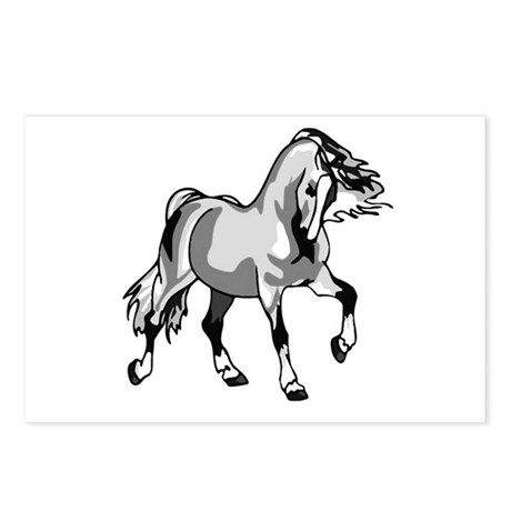 Spirited Horse White Postcards (Package of 8)