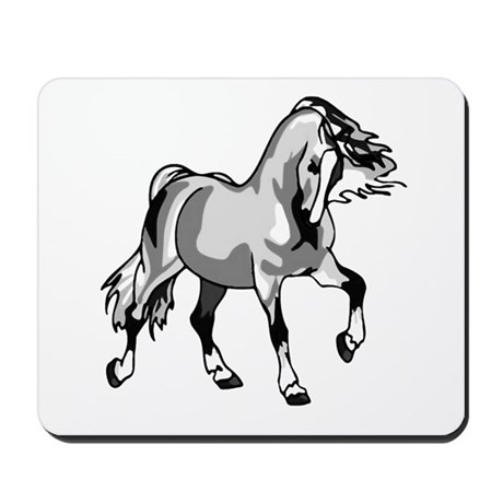 Spirited Horse White Mousepad