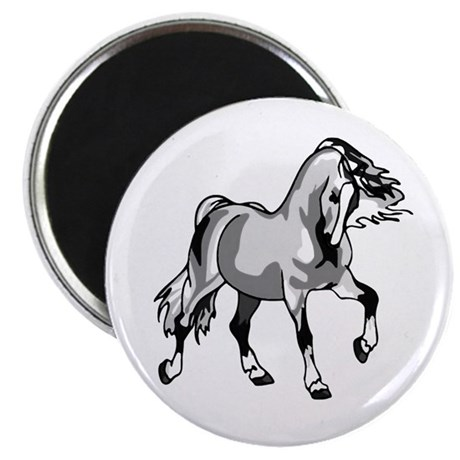 "Spirited Horse White 2.25"" Magnet (100 pack)"