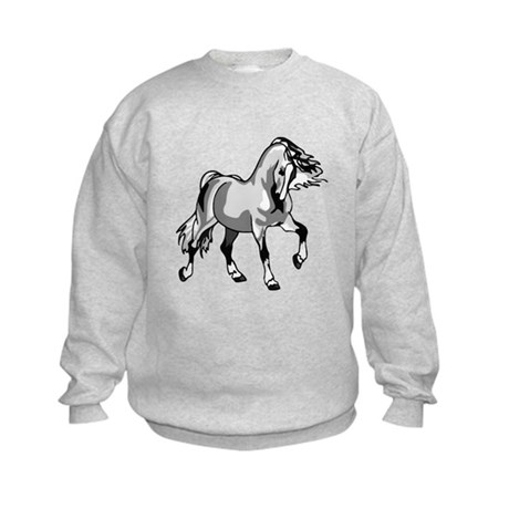 Spirited Horse White Kids Sweatshirt