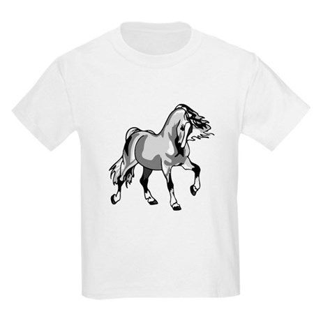 Spirited Horse White Kids Light T-Shirt