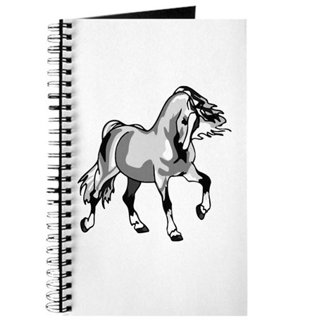 Spirited Horse White Journal