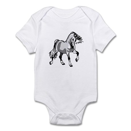 Spirited Horse White Infant Bodysuit