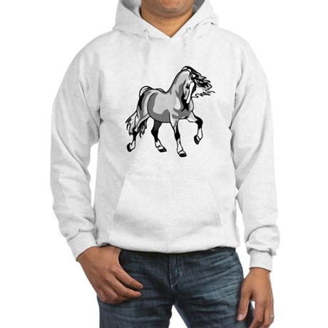 Spirited Horse White Hooded Sweatshirt